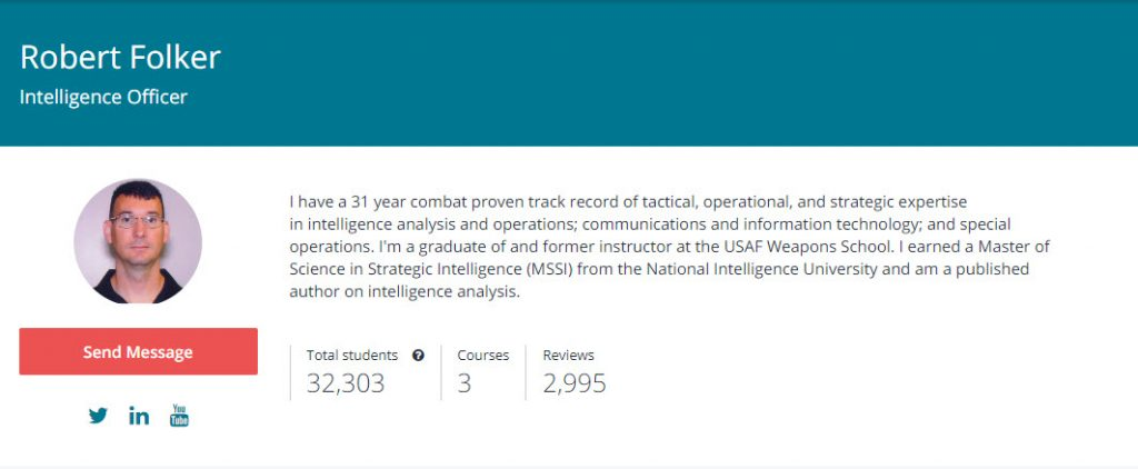 Robert Folkers Level 1 Intelligence Analysis Course - Intelligence101