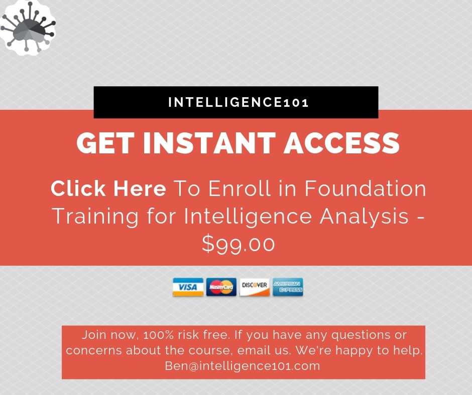 learn Online Intelligence Course: Foundation Training for Intelligence Analysis